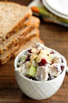 Greek Yogurt Chicken Salad - easy, healthy lunch or dinner recipe!