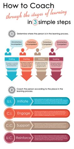 How To Coach Through The Stages of Learning Infographic