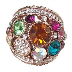 Fashion+Women's+Assorted+Color+Crystal+Ring(1+Pc)+–+USD+$+10.99
