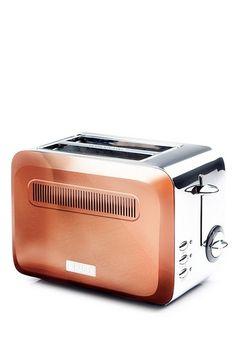 Image for Haden Boston 2 Slice Toaster from studio Copper Tray, Copper Lamps, Copper Rose, Copper Color, Copper Kitchen Accessories, Pen Sets, Small Appliances, Kitchen Essentials, Toaster