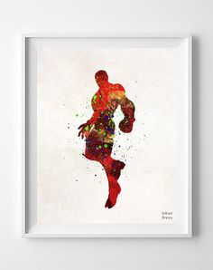 Ironman Print Watercolor Superhero Illustrations by InkistPrints #Ironman #Superhero