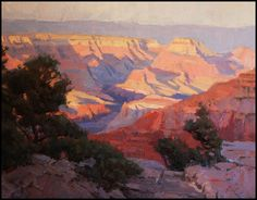 'Canyon Light' Oil Painting by John Poon of Rowe Gallery