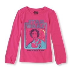 Long Sleeve 'Star Wars Princess Leia' Graphic Tee | The Children's Place