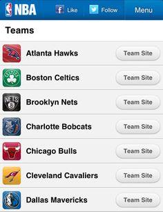 NBA Mobile Website | Mobile Web Design Showcase