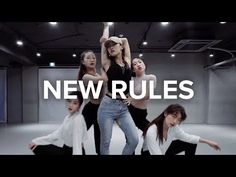 (12) New Rules - Dua Lipa / Jin Lee Choreography - YouTube