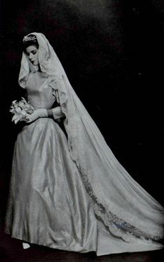 Vintage Wedding Gown by Jean Desses 1962