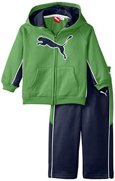 PUMA Baby Boys Cat Fleece Set Classic Green 24 Months ** Find out more about the great product at the image link. (This is an affiliate link) #BabyBoyHoodiesandActive
