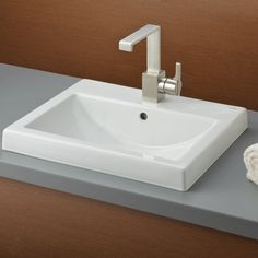 CheviotProducts Camilla Vitreous China Rectangular Drop-In Bathroom Sink with Overflow & Reviews   Wayfair