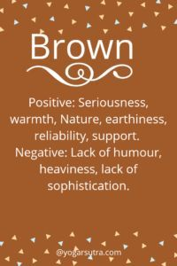 #Color Psychology. BROWN Positive: Seriousness, warmth, Nature, earthiness, reliability, support. Negative: Lack of humor, heaviness, lack of sophistication. Psychology Quotes, Color Psychology, Psychology Studies, Psychology Careers, Health Psychology, Psychology Experiments, Colors And Emotions, I Am Statements, Color Magic