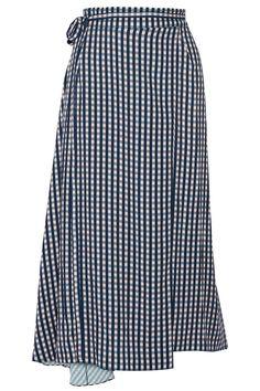 Falda larga de vichy