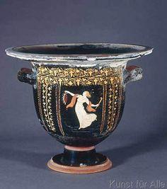 4.+Jahrhundert+v.Chr+-+Tanzende+Mänade+/+griech.Vasenmalerei