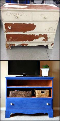 Thrift Store Dresser Transformation