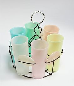 Millionaire line -- Tupperware. I have some of these cups! My kids love to drink from them because they are so tiny.