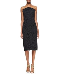 Electra Lace-Embroidered Strapless Dress by Roland Mouret