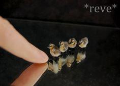 Mallard Ducklings Miniature Handmade Sculptures by ReveMiniatures.deviantart.com on @deviantART-love the mallard ducklings-Louise