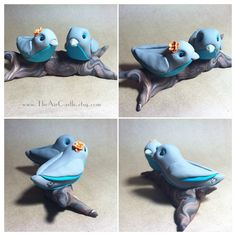 Love Birds on a branch custom wedding cake topper by theaircastle, $155.00