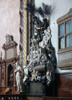 Náhrobek Johanna Leopolda Trautsona, po 1724 - F. Erlach ml. + F. Brokoff + Conrad von Albrecht