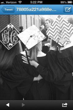 Bedazzled sorority caps for graduation. MUST do this, Delphi seniors!