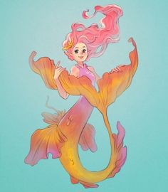 (7) Tumblr Mermaid Artwork, Mermaid Drawings, Fantasy Mermaids, Mermaids And Mermen, Art Vampire, Vampire Knight, Fantasy Creatures, Mythical Creatures, Cosplay Steampunk