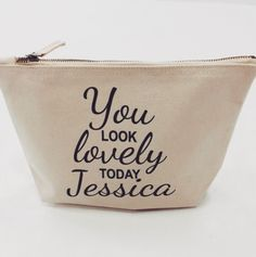 Personalised Makeup Case at #jual #personalisedgifts #bags #personalisedbags also available in black ❤️ £12.99 contact olivia@jual.co.uk for more details ✌️