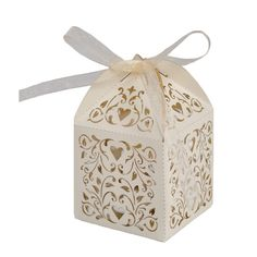 Love Vines Favor Box - Favor Boxes by Paper Orchid Stationery  I like these. But ivory or dif color?