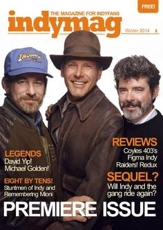 Indymag issue 8 - The magazine for Indiana Jones fans Day Of The Tentacle, Eddie The Head, Music Journal, Head Games, Blues Brothers, Free Magazines, Harrison Ford, Gorillaz, Alfred Hitchcock