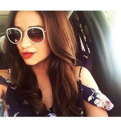 Shay on a Sunday drive Cat Eye Sunglasses, Round Sunglasses, Shay Mitchell, Face Claims, Pretty Little Liars, Most Beautiful Women, In Hollywood, Sunnies, Beauty