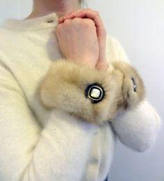 Genuine Mink Fur Cuffs Bracelets Handmade from by DakinisChoice