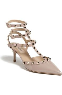 Valentino 'Rockstud' Pointy Toe Pump (Women) available at #Nordstrom