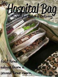 Cotton N' Kandi: Packing your Hospital Bag... Advice from a Second Time Mom {RiverBend Hospital} What not to forget for Labor and Delivery. Pregnancy Preparation First time moms, Organizing