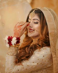 Pakistani Bridal Makeup, Pakistani Wedding Dresses, Wedding Dresses For Girls, Beautiful Bridal Makeup, Bridal Beauty, Girl Hand Pic, Bridal Dress Design, Engagement Dresses, Wedding Lingerie