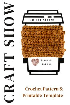The picot stitch on this crochet cup cozy pattern adds such a cute detail and texture. Pair it with the cup printable template, and you are ready to gift or sell your finished at a craft show. Simply… More Crochet Coffee Cozy, Coffee Cup Cozy, Crochet Cozy, Unique Crochet, Tea Cozy, Cup Sleeve, Coffee Sleeve, Mug Cozy Pattern, Selling Crochet