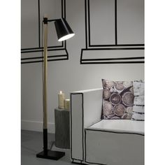 It's About Romi Sydney Vloerlamp Ijzer Hout h 150 cm - Zwart - afbeelding 5