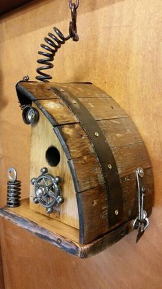 Old wine barrel and other recycled metals. $110.  253 652 1960