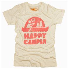 Women's Happy Camper Tee T-Shirt - PalmerCash T-Shirt Review