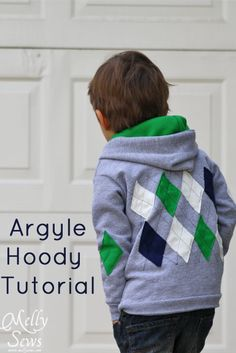 Argyle Hoody Tutorial  Cute idea, i would just do the argyle look to the back and not the front.