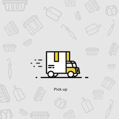 #Storage #pack #pickup #truck #illustration #icon #icons #box #iconaday #pattern…