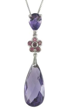 10k White Gold Pear Amethyst, Pink Tourmaline Pendant Necklace (8x18mm ) Amazon Curated Collection,http://www.amazon.com/dp/B00554SIGY/ref=cm_sw_r_pi_dp_RUlpsb0E5AJ1P0ZV