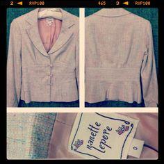 Nanette Lepore $375 shrunken tweed blazer with grosgrain bows sz 0/XS... yours for $90 #nanettelepore #blazer #jacket #fashionista #amazingfind #pricedtosell #cashinyourcloset #instashop #instafashion #instachic #consignmentshop #consignment #tribeca #nyc #statenisland - @resaleriches- #webstagram
