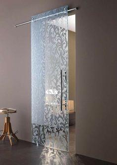 Glass Barn Doors, Sliding Glass Door, Sliding Doors, Window Design, Door Design, House Design, Plafond Design, Dining Room Walls, Glass Design