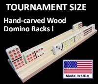 Tournament Size Hand-carved Domino Racks Mexican Train Dominoes, Wood Rack, Hand Carved, Spanish, Playing Cards, Carving, Party, Summer, Wood Shelf