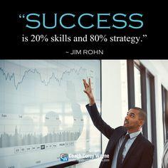 "#jimrohn #business #strategy #skills #motivation #purpose #mission #determination #drive #goals #dreams #success #coachcoreywayne #greatquotes Photo by iStock.com/Tinpixels ""Success is 20% skills and 80% strategy."" ~ Jim Rohn"