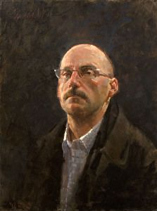 A self-portrait by artist James Crandall. (oil) Found on the FASO Daily Art Show -- http://dailyartshow.faso.com
