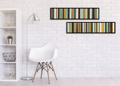 Reclaimed Wood Art  Two 7x30 Retro Pieces  Wood by ScrapWoodDesign