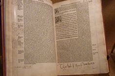 """Schoolboy Henry (later Henry VIII)'s copy of Cicero, which he'd marked """"""""Thys Boke Is Myne Prynce Henry."""""""