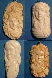 bone carving Tooth And Claw, Animal Bones, Bone Carving, Whittling, World Cultures, Antlers, Art Forms, Garden Art, Lion Sculpture