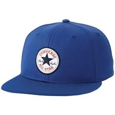 Adult Converse All Star Chuck Taylor Core Snapback Baseball Cap ($35) ❤ liked on Polyvore featuring men's fashion, men's accessories, men's hats, blue and mens snapback hats