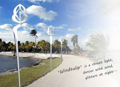 The Windtulip is a conceptual streetlight that also works as a wind power generator. The Windtulip was designed by Mebrue Oral to provide light while gathering power. Even if the Windtulip couldn't gather enough power to help curb a city's electricty use, it could more than likely gather enough power to power itself. This in and of itself would be great as it would cut a city's energy consumption substantially by removing all of the streetlights from its grid.