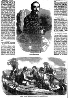 RUSSIAN BOATMEN DISCUSSING THE NEWS OF THE POLISH INSURRECTION . The Penny Illustrated Paper (London, England), Saturday, February 28, 1863