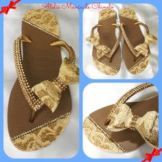 Havaiana Noiva Luxo Bege Bling Flip Flops, Flip Flop Art, Decorating Flip Flops, Decorated Shoes, Crochet Slippers, Wedge Boots, Refashion, Cute Shoes, Diy Clothes